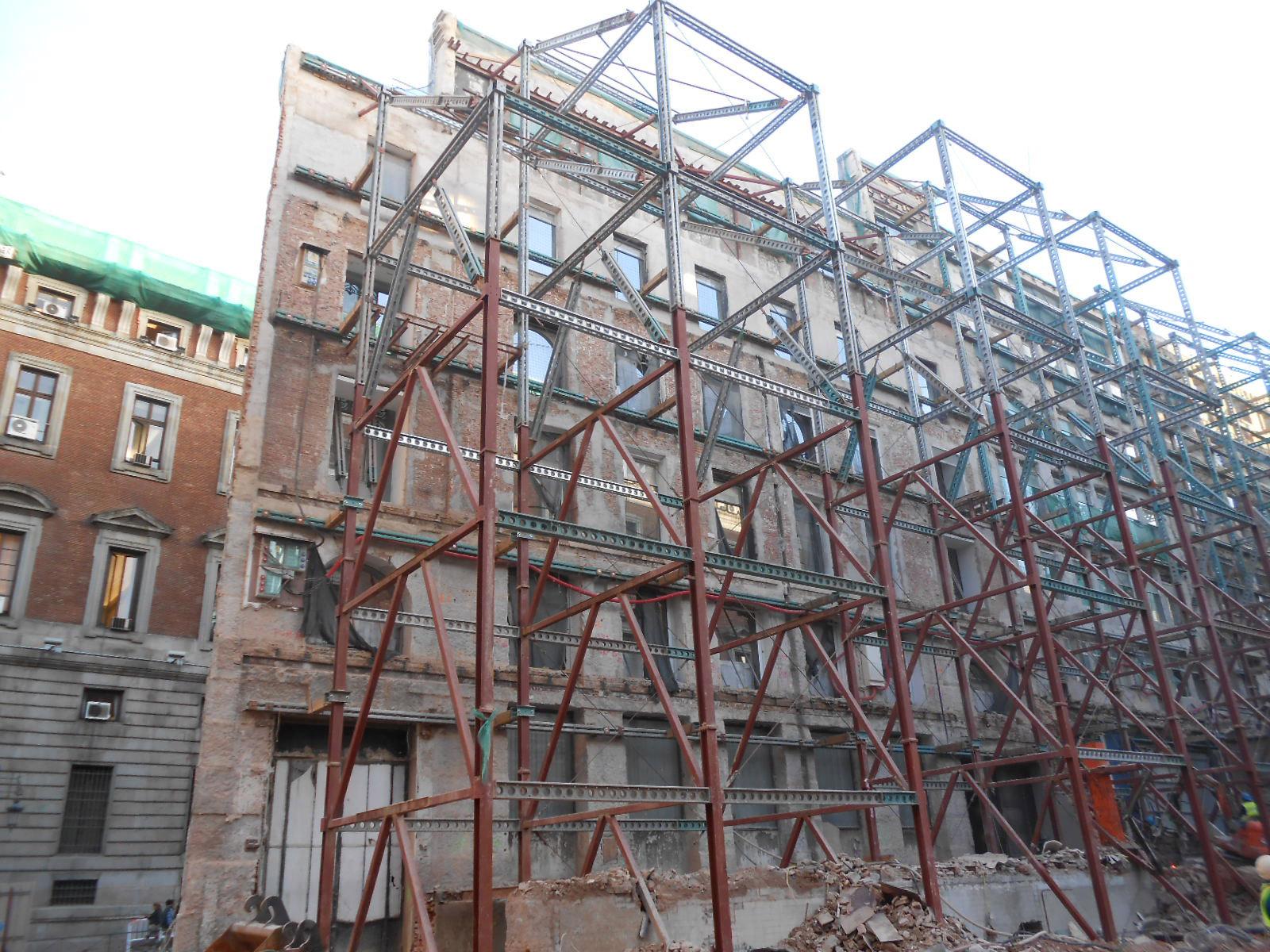 Estabilización de fachadas
